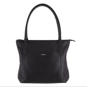 LODIS | Sierra Black Leather Travel Day Tote